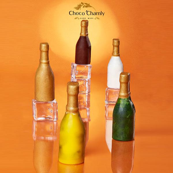 شکلات طرح بطری شیشه ای