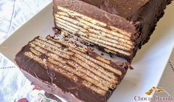 کیک یخچالی شکلاتی
